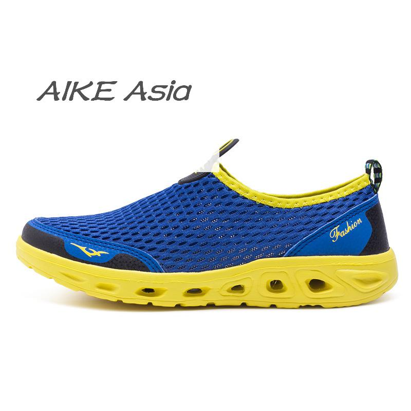 Men's Casual Shoes Shoes Aike Asia Couple Summer New Ultra Light Mesh Shoes Mens Lightweight Breathable Casual Shoes Deodorant Shoes Beach Shoes To Reduce Body Weight And Prolong Life