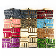 Fashion Pearlescent Acrylic Bag Chain Women Messenger Bag Geometric Patchwork Clutches Elegant Evening Bag Party Prom Handbags new fashion colorful women bag brands bridal wedding clutches women evening bag party banquet elegant girls handbags with chain