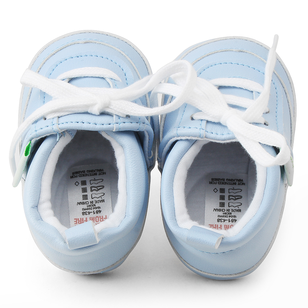 Купить с кэшбэком Delebao PU Level Stripe Lace-up Baby Shoes Soft Sole Newborn Toddler First Walkers Baby Fashion Style Shoes  Wholesale