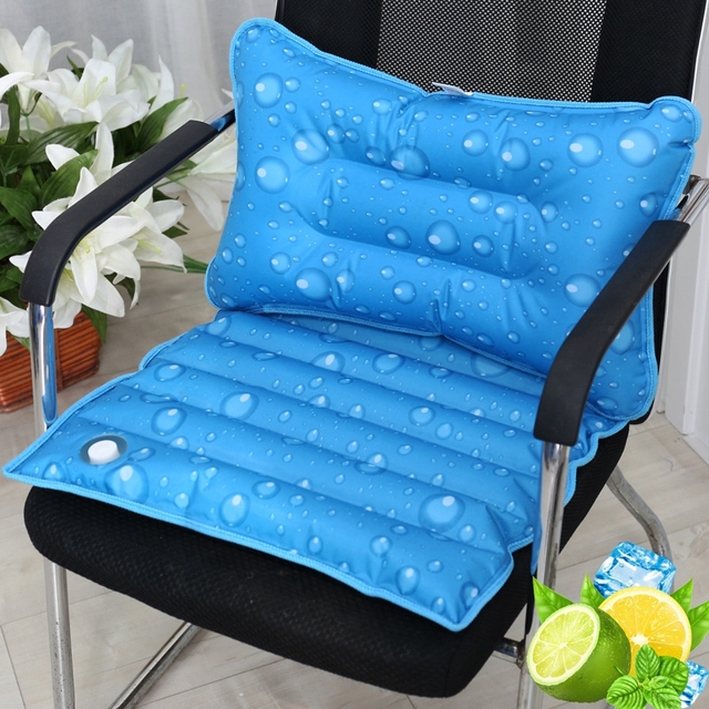 New Summer Water Drop Pattern Cool Pillow Cushion Office Chair Seat Cold Mat Back Self