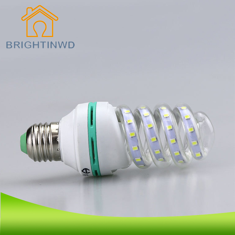 2835 SMD LED Corn Light Bulb E27 5W/7W/9W/12W Ultra Bright Energy Saving Spiral Lamp Bulb Pure Lighting Non Dimmable 85-265V  недорого