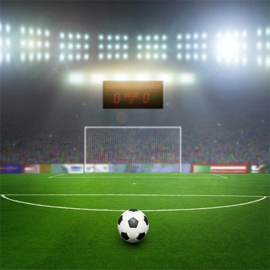 Laeacco REINO UNIDO Futebol Campo de Futebol Estádio Cênica Fotografia Adereços Cenários Para Photo Studio Fundos Backdrops Vinil Personalizado