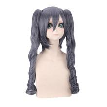Black Butler Ciel Phantomhive Women Grey Blue Long Ponytails Wig Cosplay Costume Kuroshitsuji Heat Resistant Synthetic Hair Wigs