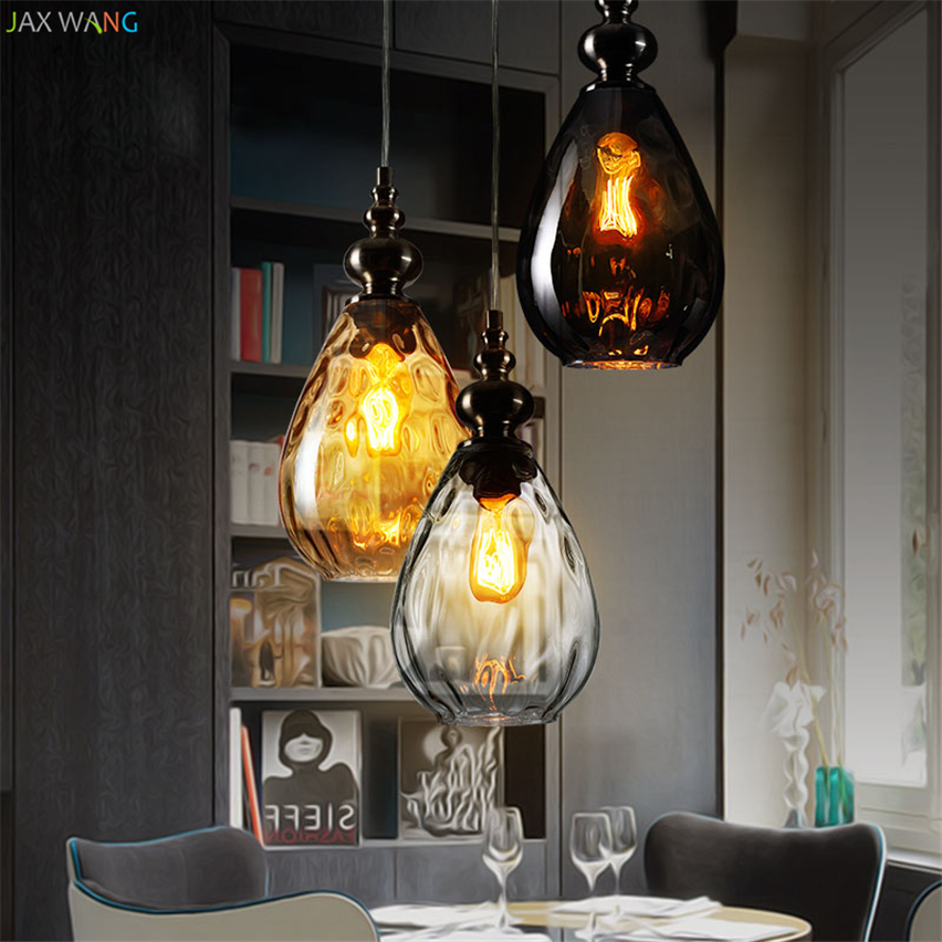 Us 39 74 26 Off Nordic Italian Vintage Pinele Gl Loft Pendant Lights Led Lamps Dining Room Restaurant Bar Hanging Decor Fixtures In