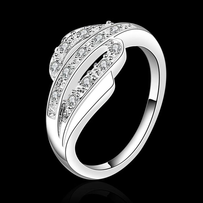 Free Shipping!!Wholesale silver plated Ring,Fashion Jewelry New Design Finger Ring For Lady SMTR532