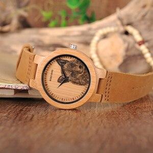 Image 4 - Мужские бамбуковые часы BOBO BIRD, специальные дизайнерские реалистичные деревянные наручные часы с УФ принтом и циферблатом, часы для мужчин, подарок