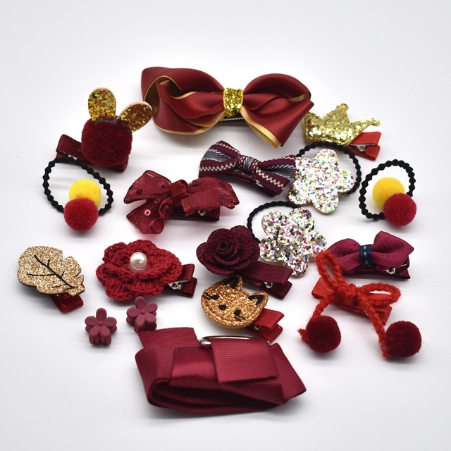 18 Pieces Hair Band Set for Young Girls