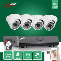 ANRAN Surveillance 4CH HD 1800N AHD DVR 500GB HDD 1800TVL 720P 48IR Outdoor Dome Waterproof Video