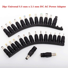 28pc Universal 5.5 mm x 2.1 DC AC Power Adapter Tips Connector for Scooter Hoverboard Ebike Laptop