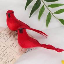 10Pcs Red Foam Artificial Simulated Bird Yard Lawn Garden Outdoor Miniature Figurines Home Decoration Accessories(China)