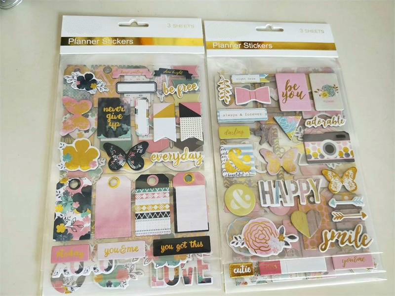 YPP CRAFT Never Give Up <font><b>3D</b></font> Die Cut Self-adhesive <font><b>Stickers</b></font> <font><b>for</b></font> <font><b>Scrapbooking</b></font> Happy Planner/Card Making/Journaling Project image