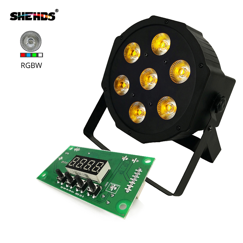 LED Flat Par 7x12W RGBW 8 Channel DMX512 Control Board Stage Lighting Accessories
