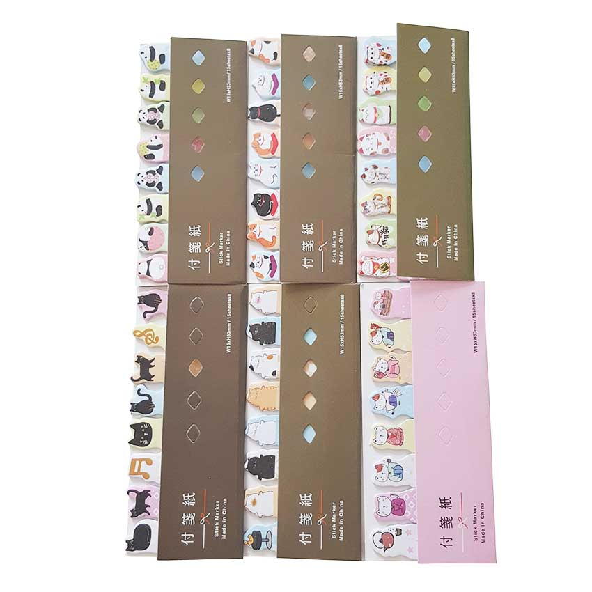 30pcs/lot NEW vintage kawaii cat panda series GarfieldFortune Cat Memo pad sticky post it office supplies wholesale