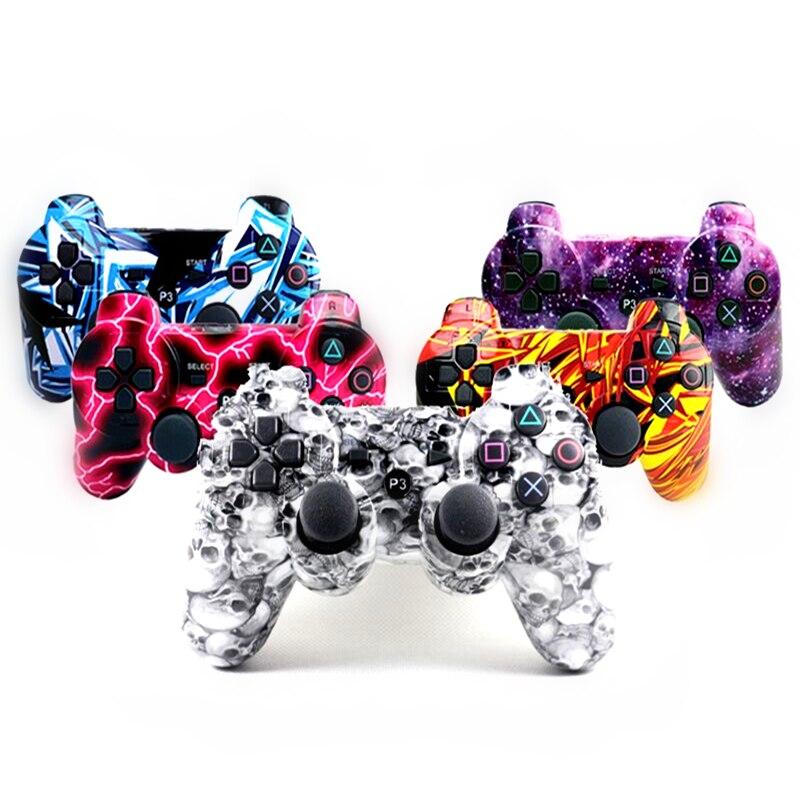 Compatível Ps3 Vibrador Compatível Com Playstation 3 SIXAXIS Sem Fio Bluetooth Controlador Joystick Gamepad Gamepad ps3