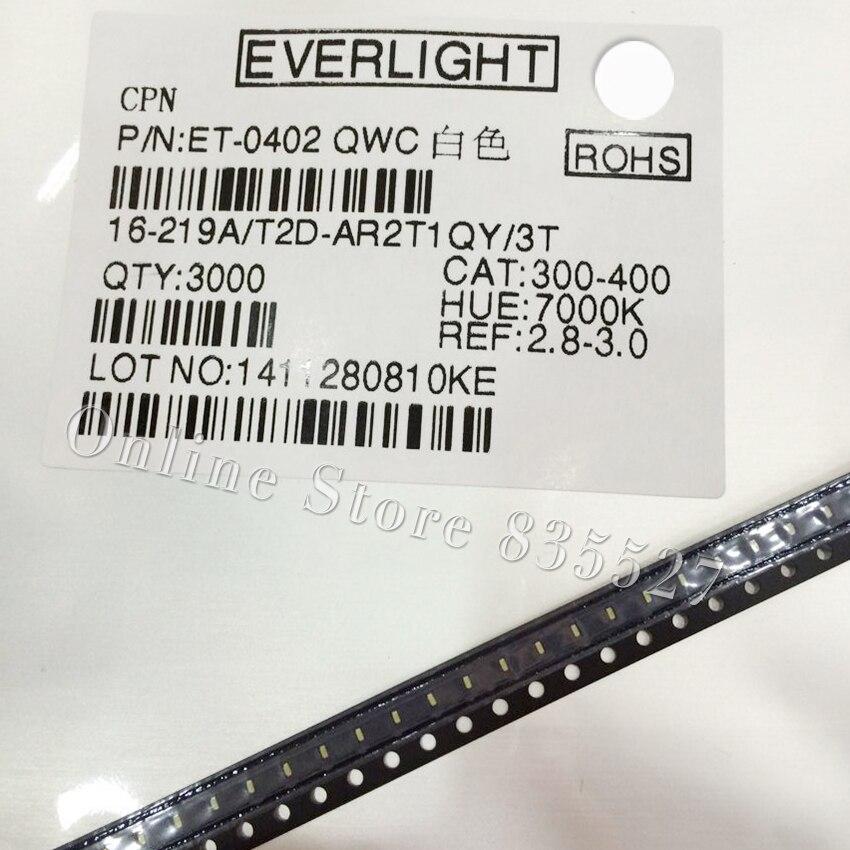 1000pcs/lot LED 0402 / 1005 SMD Light Beads Bright White LED Light Emitting Diode Everlight