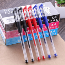 5Pcs 0.5mm Unisex Gel Pen Black Blue and Red Ink  Very Good Writing Pen Metal Chirography Office & School Pen For Student