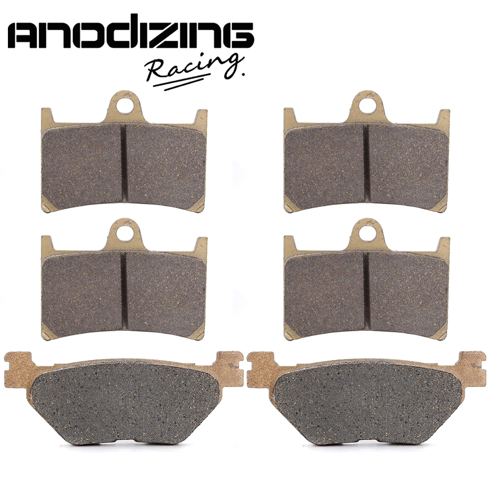 Motorcycle Front and Rear Brake Pads For YAMAHA FJR1300 2001-2005 motorcycle front and rear brake pads for yamaha xvz 1300 xvz1300 royal star tour deluxe 2005 2007 brake disc pad