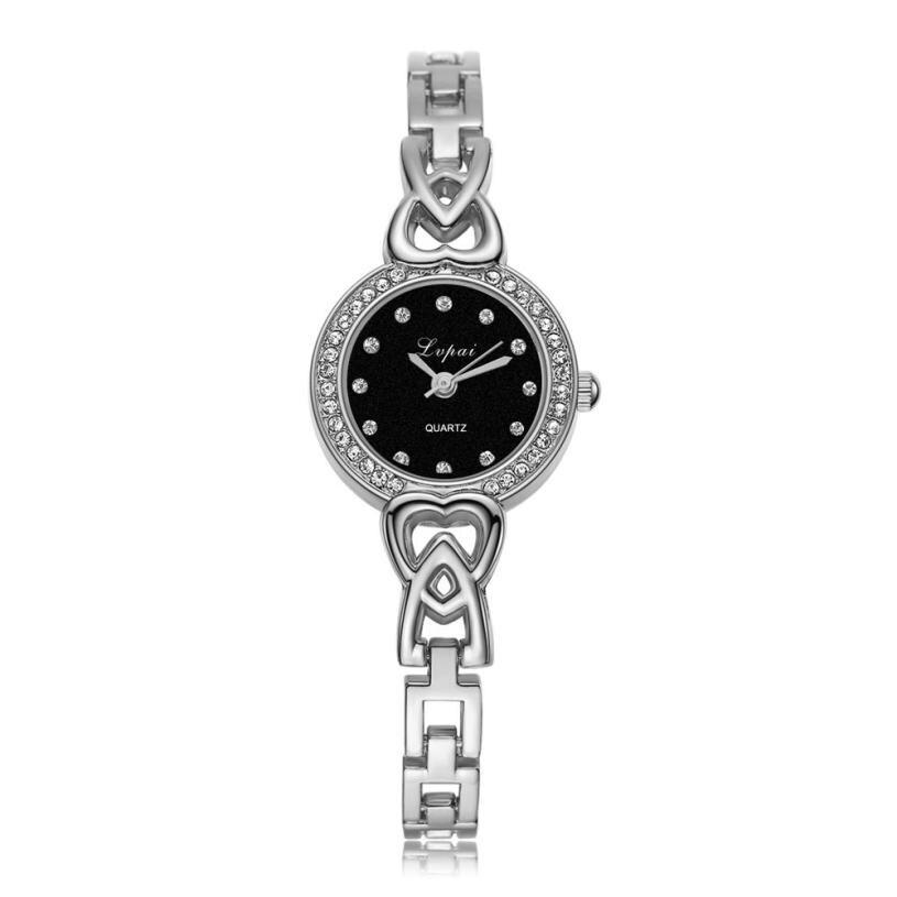 2017 молочно-часы мужские Для женщин 'Часы кутюр Для женщин Нержавеющаясталь горный хрусталь кварцевые наручные часы 17Nov 2