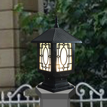 Column head lamp post caplights lamp post outdoor garden lamp fashion lamp post vintage garden lights waterproof
