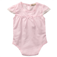 0 to 24 Months Baby Girls Clothes Pink Princess Bodysuit Newborn Jumpsuit Outfits(China)