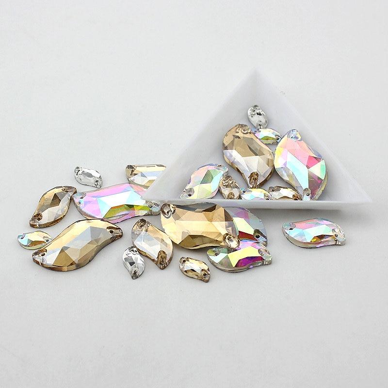 Silver Base jasno kristal AB šivati na kamenu, Flatback S - Umjetnost, obrt i šivanje - Foto 2