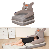 Cartoon Lazy Inflatable Sofa Bed Apartment Folding Bed Multi Functional Sofa