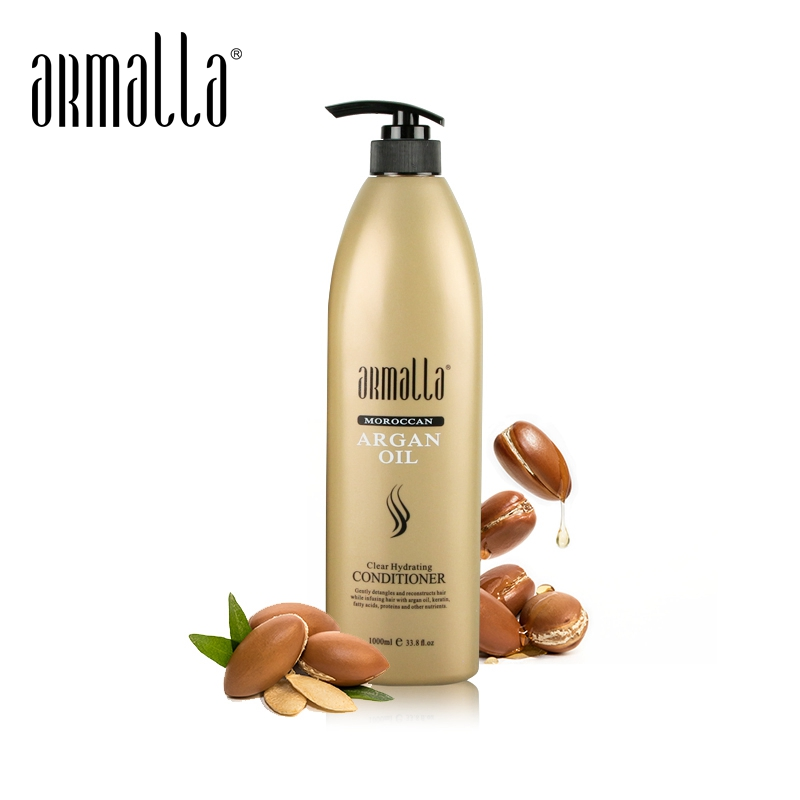 Armalla 1000ml Moroccan Argan Oil Conditioner Fresh Moisturizing Cream Repair For Dry Damaged Hair Free Shipping image