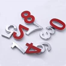 Srebrne numery drzwi samoprzylepne małe plastikowe 0 do 9 cyfr DIY adres tabeli szafka na pocztę numer hotelu apartament Doorplate