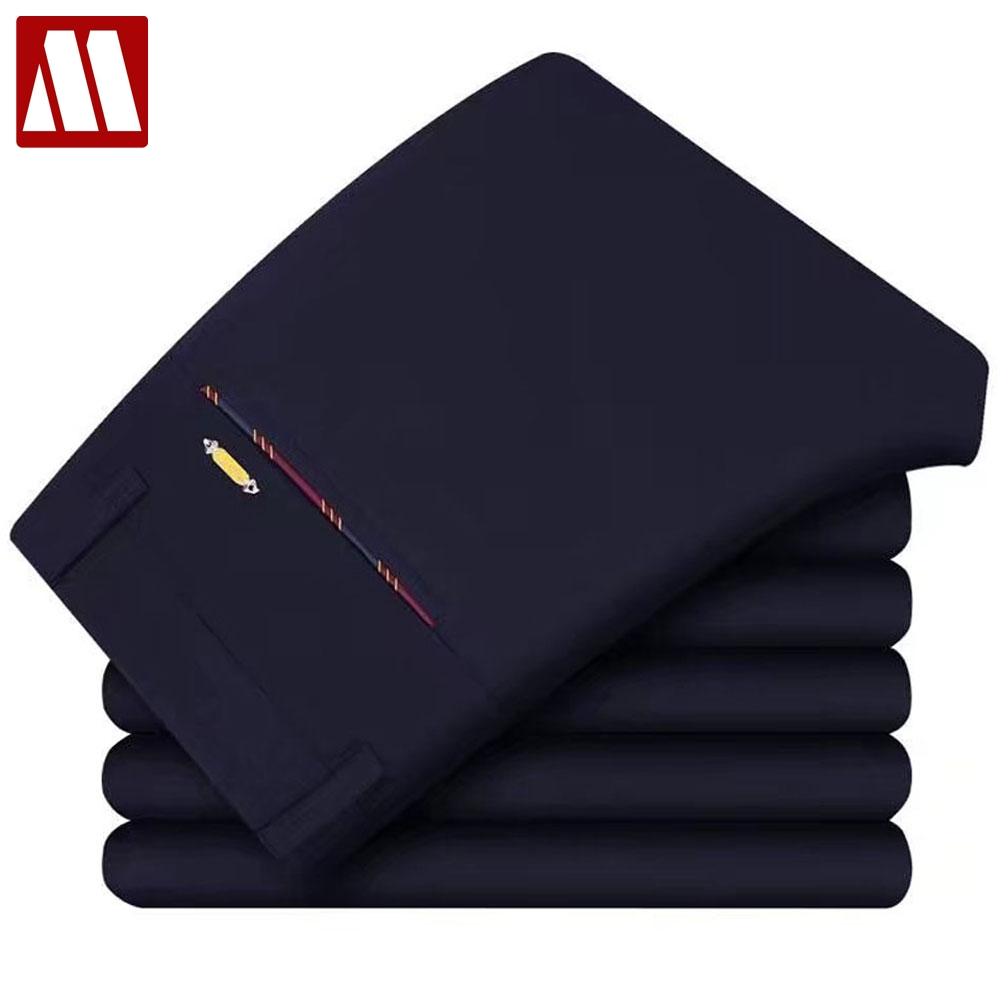 New Summer Men's suit pants Office Casual Business Pants Fashion Slim Elastic Black Dress Pants Male Straight Trousers W28 38-in Casual Pants from Men's Clothing on AliExpress - 11.11_Double 11_Singles' Day 1