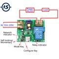 Wifi módulo de relé controle remoto 220 v 30a alta potência 6000 w telefone app controle remoto interruptor do temporizador controle acesso