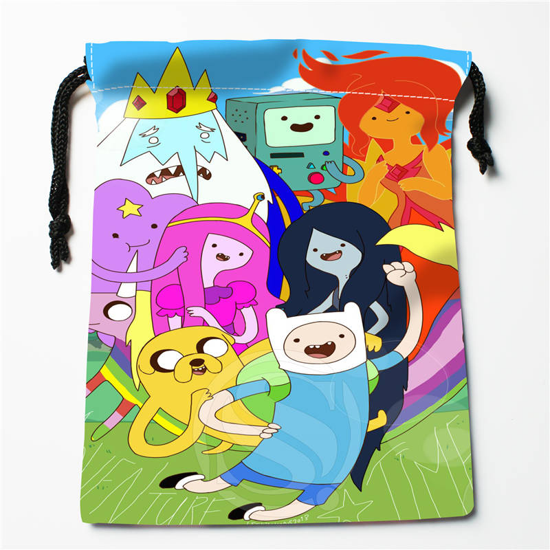 h#!h139 New adventure time Custom Printed receive Bag Compression Type drawstring bags size 18X22cm 7&12gt-er139