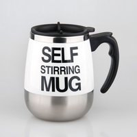 Self Stirring Coffee Cup Mugs Electric Coffee Mixer Stainless Steel Automatic Mixing Cup Coffee Mug Drinking