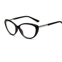 2019 New fashionable personality cat-eye glasses frame retro small refreshing flat