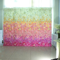 2M x 3M lastest Blending Pink with White roses wedding flower wall flower backdrop Wedding decoration