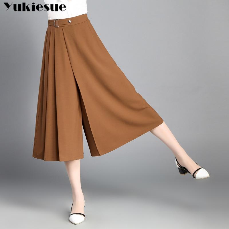 harajuku   Wide     leg     pants   & capris for women with high waist loose casual chiffon women's   pants   pantalon femme streetwear trousers