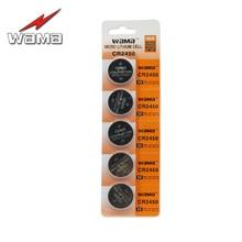 5pcs/pack Wama CR2450 Coin Batteries DL2450 CR2450N ECR2450 BR2450 Li-ion Lithium 3V Button Cell Battery Car Remote