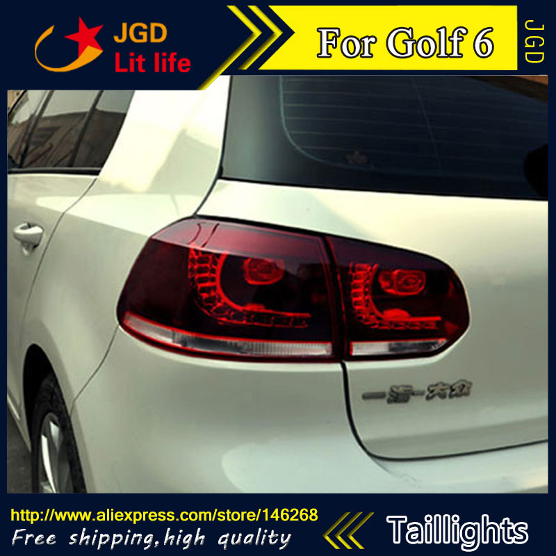 High Quality. Tail Lights case for VW Golf 6 2009-2012 LED Tail Light Rear Lamp DRL+Brake+Park+Signal Car styling car styling tail lamp case for mazda cx 5 2012 2015 tail lights led tail light rear lamp led drl brake park signal
