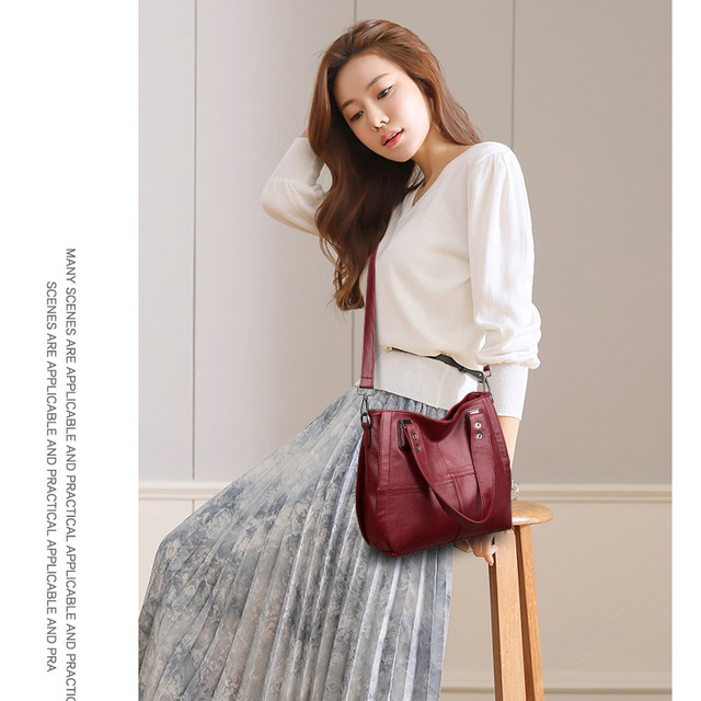 Genuine Leather Casual Shoulder Bags 5