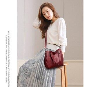 Image 5 - Новая роскошная Брендовая женская кожаная сумка из натуральной кожи, повседневные сумки тоут высокого качества из мягкой овчины, женские большие сумки на плечо