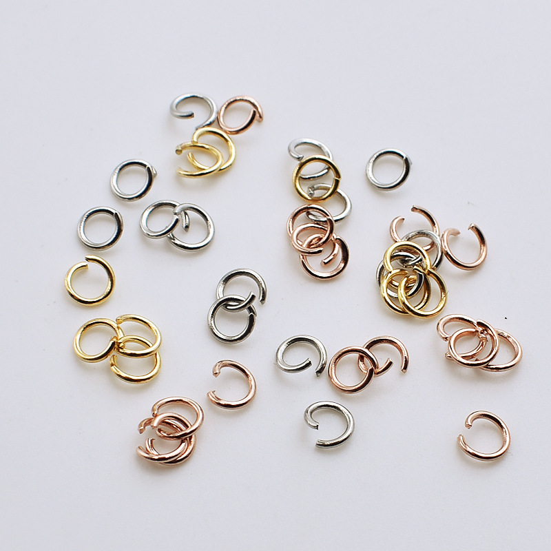 100pcs Stainless Steel Gold Rose Gold Steel Tone Open Jump Ring 4/5/6/7/8mm Split Ring Connector For DIY Jewelry Making 0.8mm