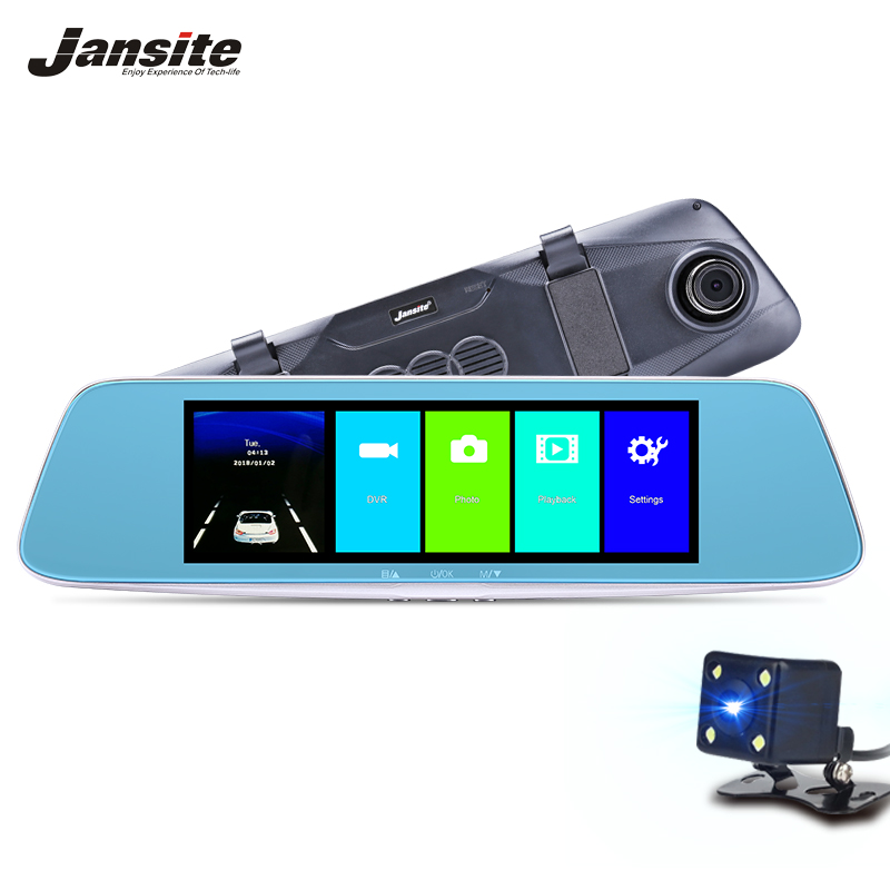 "Jansite 7.0"" Touch screen Car DVR Camera Super night vision Dush Cam Review Mirror Dvr Detector Video Recorder 1080P Car Dvrs"