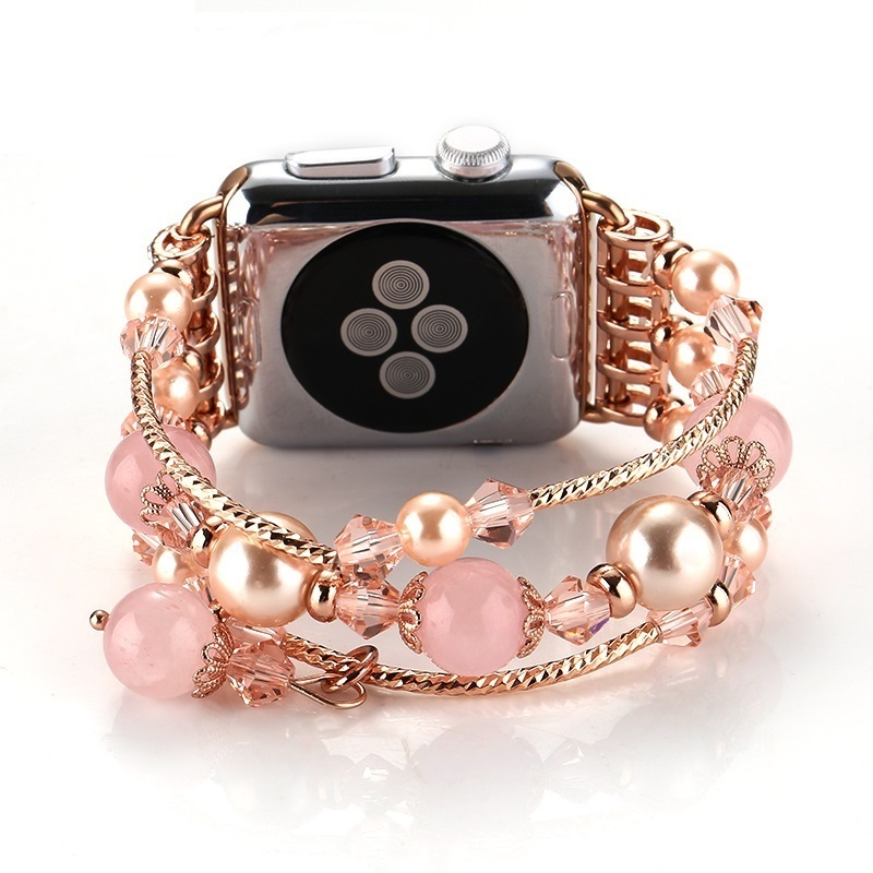 Apple Watch Band,for Apple Watch Series 2 / 1 Women Replacement Bracelet  Fashion Handmade Elastic Stretch Pearl Natural Stone смарт часы apple watch series 2