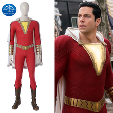 MANLUYUNXIAO Billy Batson Cosplay Halloween Costumes For Men Adult DC Superhero William Joseph Captain Marvel Outfit Full Set