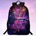Retail  Hot Sale Polyester Printing Starry Sky  Womens Gift Bags Black For Girls School Backpack Kids Bookbag Students Mochila