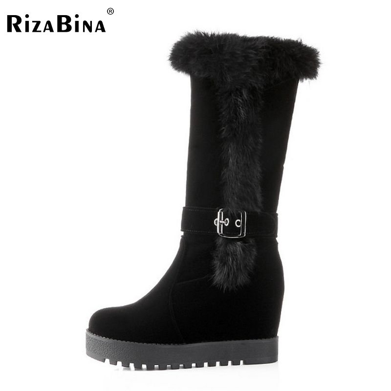 RizaBina Free shipping over knee wedge boots women snow fashion winter warm footwear shoes boot P15339 EUR size 34-39 free shipping candy color women garden shoes breathable women beach shoes hsa21