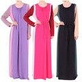 Турецкие Женщины Одежда Мусульманская абая Платье Исламская Одежда для Женщин Халат Мусульманского Jilbabs Платья Дубай Кафтан Платье С Длинным