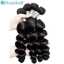 Brazilian Loose Wave Bundles Human Hair Bundle Deals 4 /3 / 1 Pc Remy PerisModa Hair Extension Natural Mi Lisa Hair Weave Bundle(China)