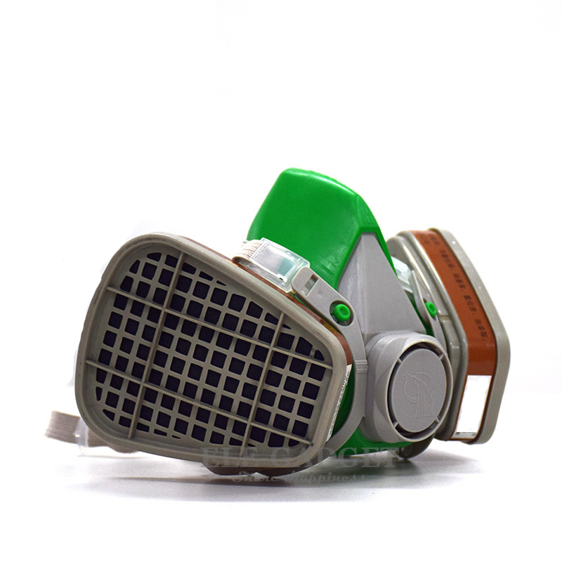 New Half Face Gas Respirator Dust Mask With Dual Filters 6200 Model For Painting Spraying Laboratory Work Safety Masks