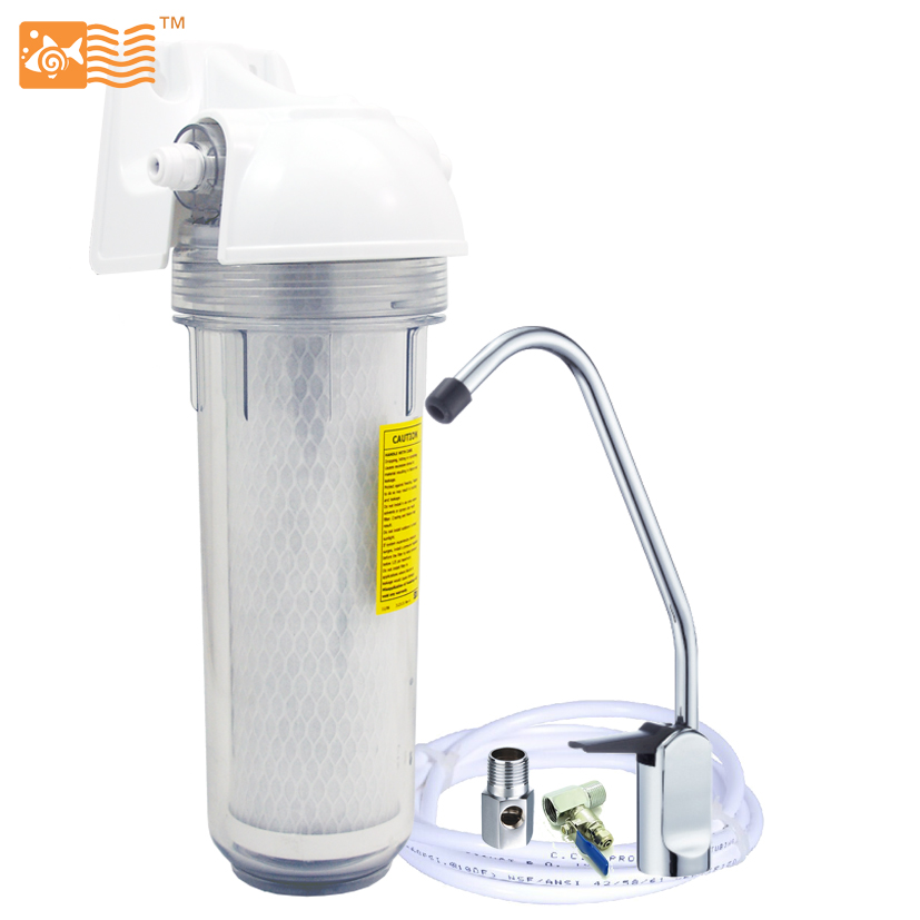 Coronwater Household Single Stage Undersink Water Filter System 0.5 micron Activated Carbon USF-01-C