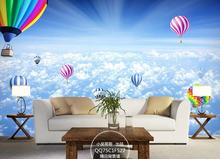 цены Custom 3D wallpaper for walls 3 d wall murals sky clouds balloon only beautiful 3d setting wall murals wallpaper for living room